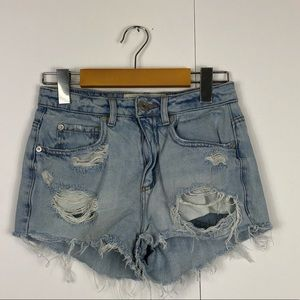 Garage Distressed High Waisted Festival Short Sz 0